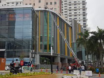 5-ое октября 2016 Subang Jaya, Малайзия Тренировка противопожарного инструктажа на гостинице Subang USJ саммита была сделана сего стоковое фото rf