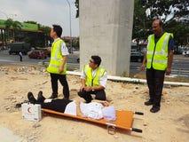 5-ое октября 2016 Subang Jaya, Малайзия Тренировка противопожарного инструктажа на гостинице Subang USJ саммита была сделана сего стоковое изображение rf