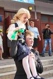 1-ое сентября, день знания в русской школе День знания школа дня первая Стоковое фото RF