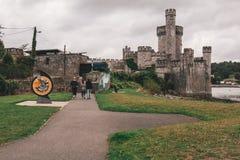 2-ое сентября 2017 - замок Blackrock, castellated городище расположенное на Blackrock, около 2 km от центра города пробочки Стоковые Изображения
