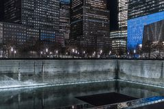 29-ое сентября 2017 - НОВЫЙ ЙОРК/США - мемориал к 11-ое сентября, мир tr Стоковые Изображения