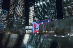29-ое сентября 2017 - НОВЫЙ ЙОРК/США - мемориал к 11-ое сентября, мир tr Стоковые Фотографии RF