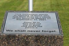 11-ое сентября 2001 Стоковые Изображения
