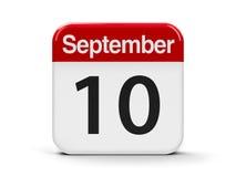 10-ое сентября Стоковые Изображения