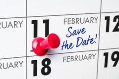 11-ое февраля Стоковое Фото