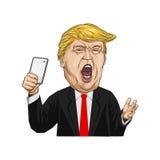 20-ое февраля 2017 Иллюстрация Дональд Трамп Стоковое Изображение RF