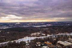 11-ое февраля 2017 - панорама городского пейзажа Стокгольма, Swed Стоковые Изображения RF