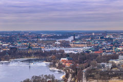 11-ое февраля 2017 - панорама городского пейзажа Стокгольма, Swed Стоковая Фотография RF