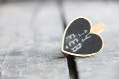 14-ое февраля Поздравительная открытка дня ` s валентинки St с сердцем, запачканным фото для предпосылки Стоковое Изображение RF