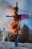 26-ое февраля 2017 праздник Maslenitsa в Бородино Стоковые Фотографии RF
