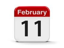 11-ое февраля Стоковое Изображение