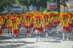 27-ое февраля 2015 Baguio, Филиппины Baguio Citys Panagbenga f стоковые изображения