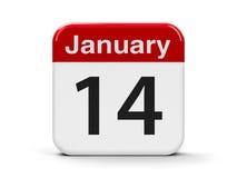 14-ое января иллюстрация вектора