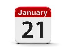 21-ое января Стоковая Фотография
