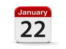 22-ое января иллюстрация вектора