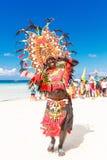 10-ое января 2016 Boracay, Филиппины Фестиваль Ati-Atihan U Стоковые Изображения RF