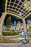 1-ое января 2014, charlotte, nc, США - ночная жизнь вокруг charlot Стоковые Фотографии RF