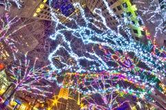 1-ое января 2014, charlotte, nc, США - ночная жизнь вокруг charlot Стоковое Изображение