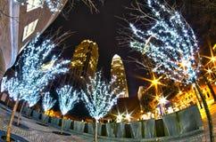 1-ое января 2014, charlotte, nc, США - ночная жизнь вокруг charlot Стоковые Фото