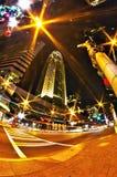 1-ое января 2014, charlotte, nc, США - ночная жизнь вокруг charlot Стоковое Изображение RF