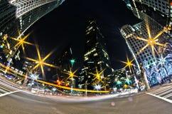 1-ое января 2014, charlotte, nc, США - ночная жизнь вокруг charlot Стоковые Изображения