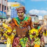 24-ое января 2016 Iloilo, Филиппины Фестиваль Dinagyang Unid стоковые изображения rf