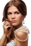 ожерелье девушки застенчивое Стоковое Изображение