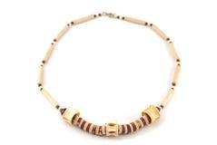 ожерелье деревянное Стоковое Изображение