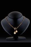 ожерелье дисплея диаманта Стоковое Изображение