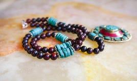 Ожерелье драгоценной камня handmade, работа шарика стоковое фото