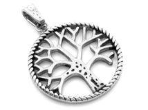Ожерелье драгоценности Привесное дерево жизни Нержавеющая сталь стоковые фотографии rf