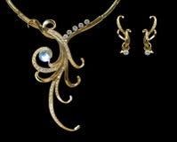 ожерелье золота Стоковая Фотография