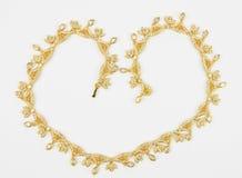 ожерелье золота Стоковые Фото