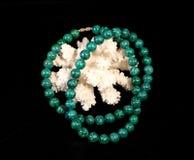 ожерелье малахита коралла Стоковое фото RF