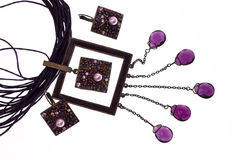 ожерелье сирени серег Стоковая Фотография RF
