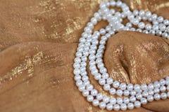 ожерелье pearls белизна Стоковое Изображение
