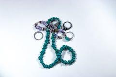 Ожерелья и кольца шарика Стоковые Изображения RF