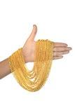 Ожерелье золота в наличии Стоковое Фото