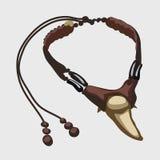 Ожерелье иллюстрации вектора зуба бивня Стоковая Фотография