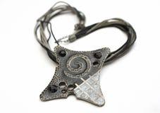 Ожерелье на белой предпосылке Стоковые Фотографии RF