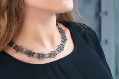Ожерелье на шеи Стоковая Фотография