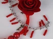 ожерелье подняло Стоковое Фото