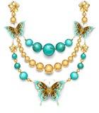 Ожерелье с бирюзой Стоковая Фотография