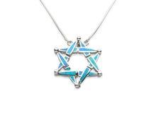 Ожерелье украшенное бирюзой в исламской форме символа Стоковые Изображения