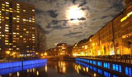 оживление реки ночи Стоковое фото RF