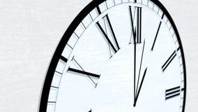 Оживленная серия часа времени часов поворачивая - один час сток-видео