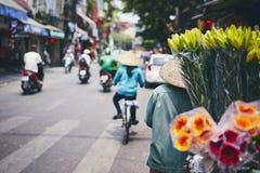Оживленная улица в Ханое стоковое изображение rf