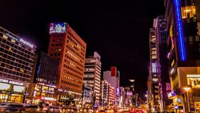 Оживленная улица в kangnam Сеуле Корее Стоковая Фотография