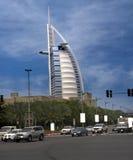 оживленная улица burj al арабская Стоковая Фотография