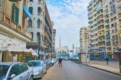 Оживленные улицы Александрии, Египта Стоковые Изображения RF